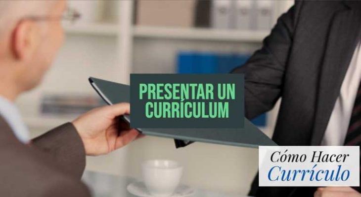 presentar curriculum